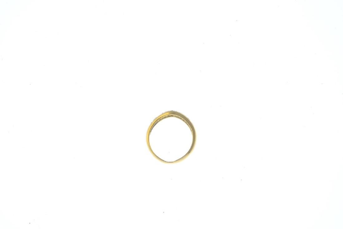 An 18ct gold diamond ring. Designed as a pave-set - 2