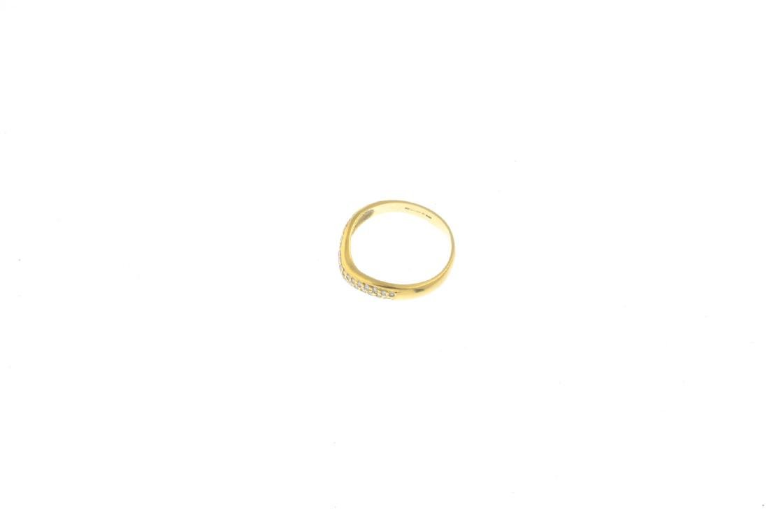 An 18ct gold diamond ring. Designed as a pave-set - 3