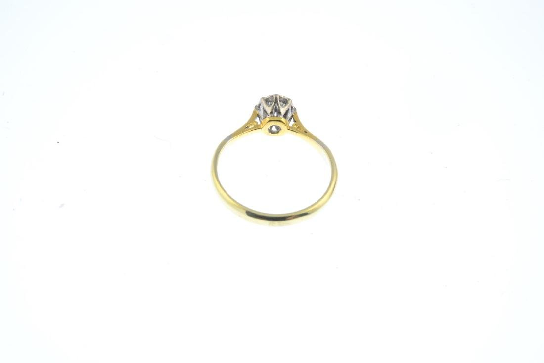 A diamond single-stone ring. The brilliant-cut diamond, - 3