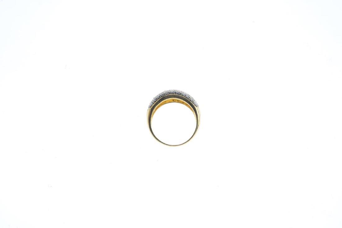 A diamond and black-gem dress ring. Designed as three - 2