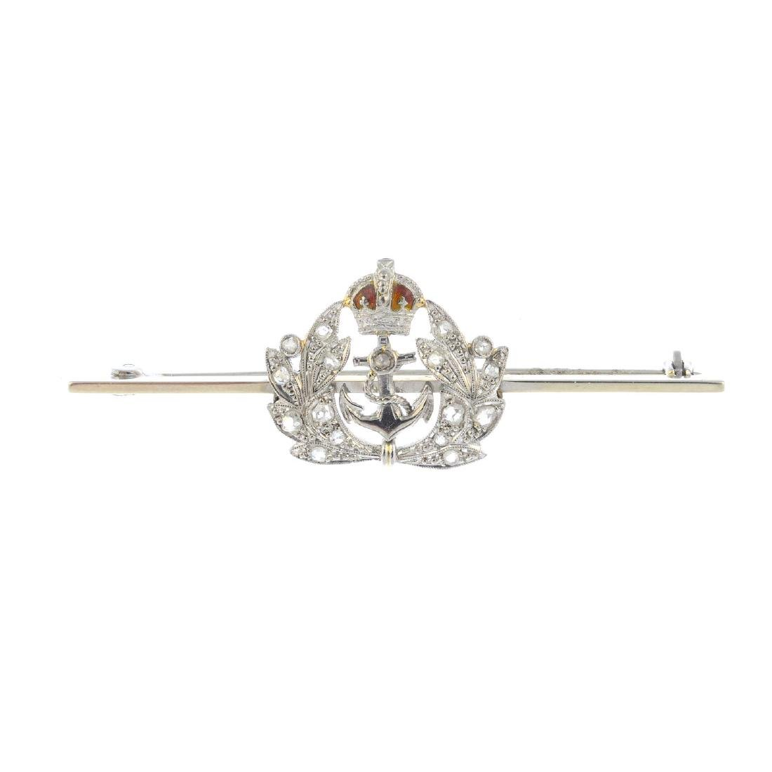 A mid 20th century diamond brooch. Designed as an