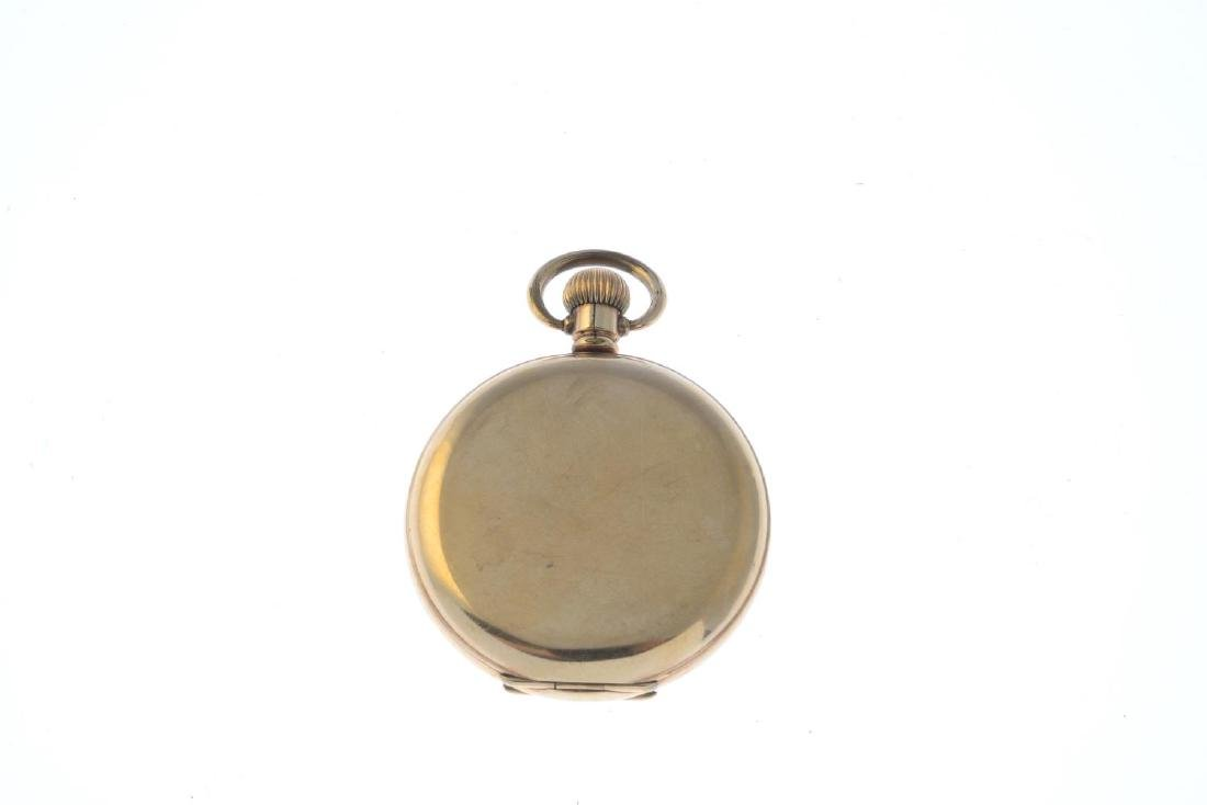 A 9ct gold cubic zirconia bracelet and a pocket watch. - 5