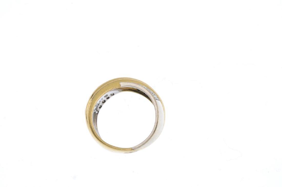 A diamond dress ring. Of bi-colour design, the - 2
