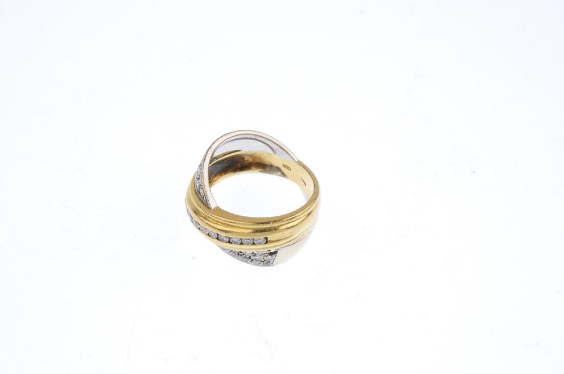A diamond dress ring. Of bi-colour design, the - 3