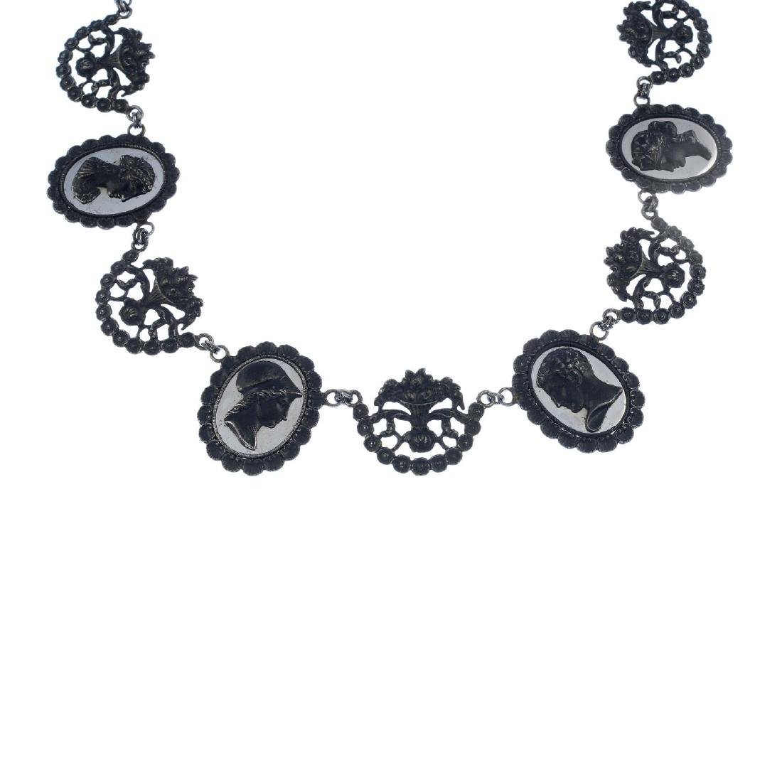An early 20th century Berlin iron necklace. Comprising