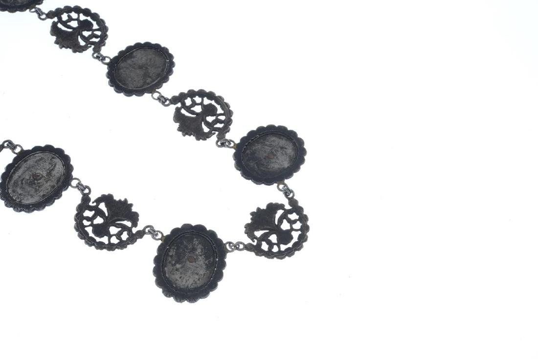 An early 20th century Berlin iron necklace. Comprising - 2