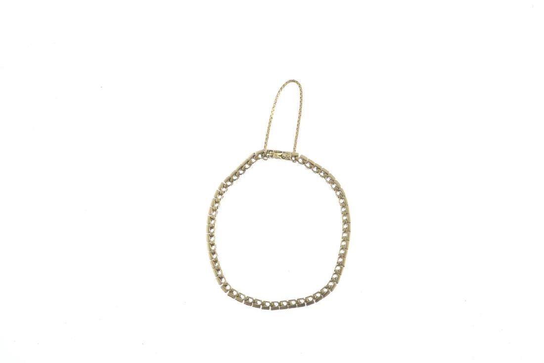 A diamond bracelet. The brilliant-cut diamond line, - 2