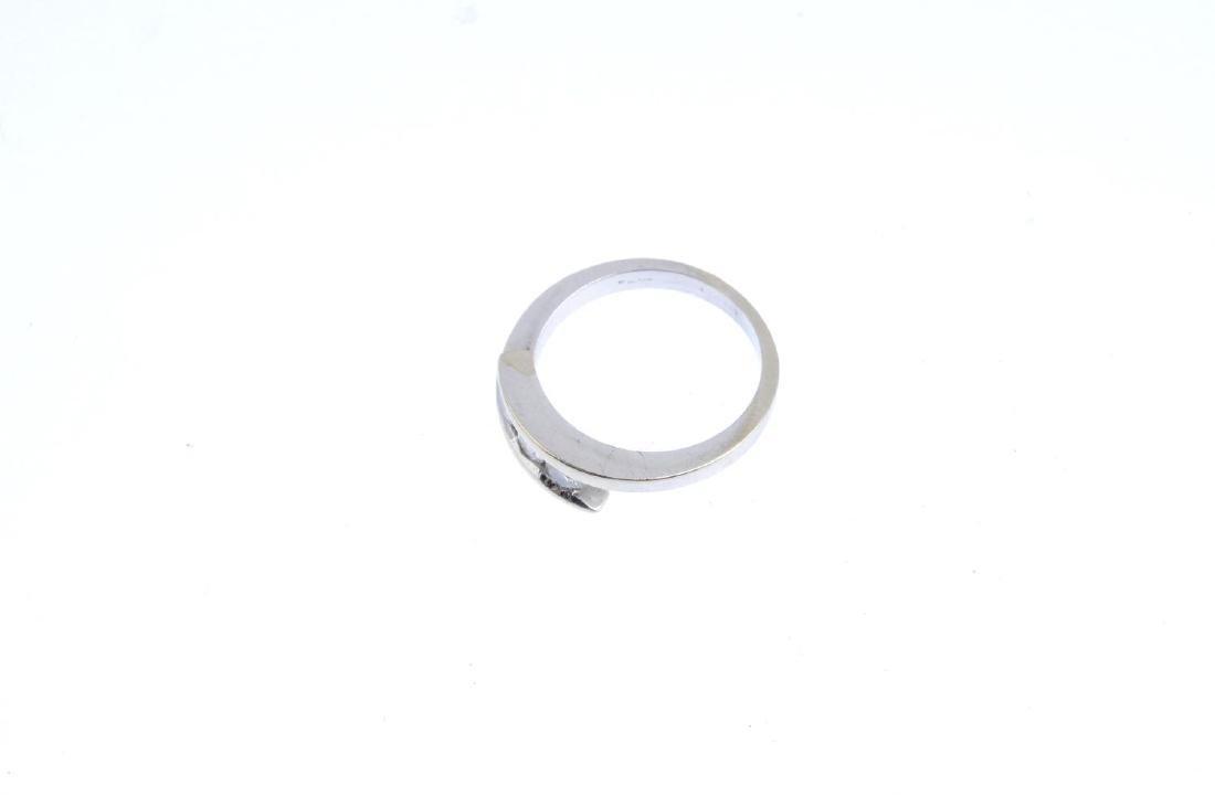 A 9ct gold diamond three-stone ring. The brilliant-cut - 4