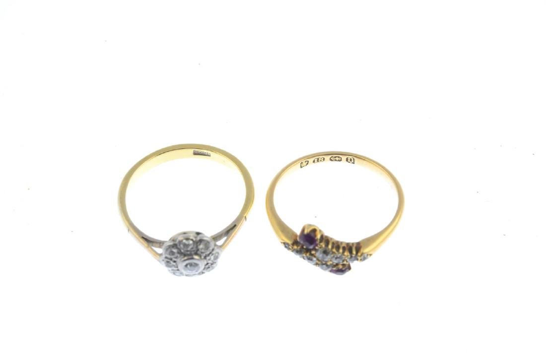 Two diamond and ruby rings. To include a late Victorian - 2