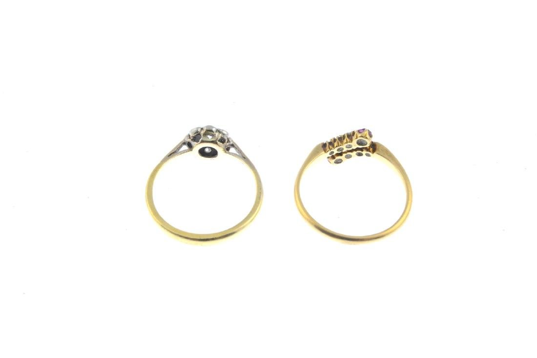 Two diamond and ruby rings. To include a late Victorian - 3