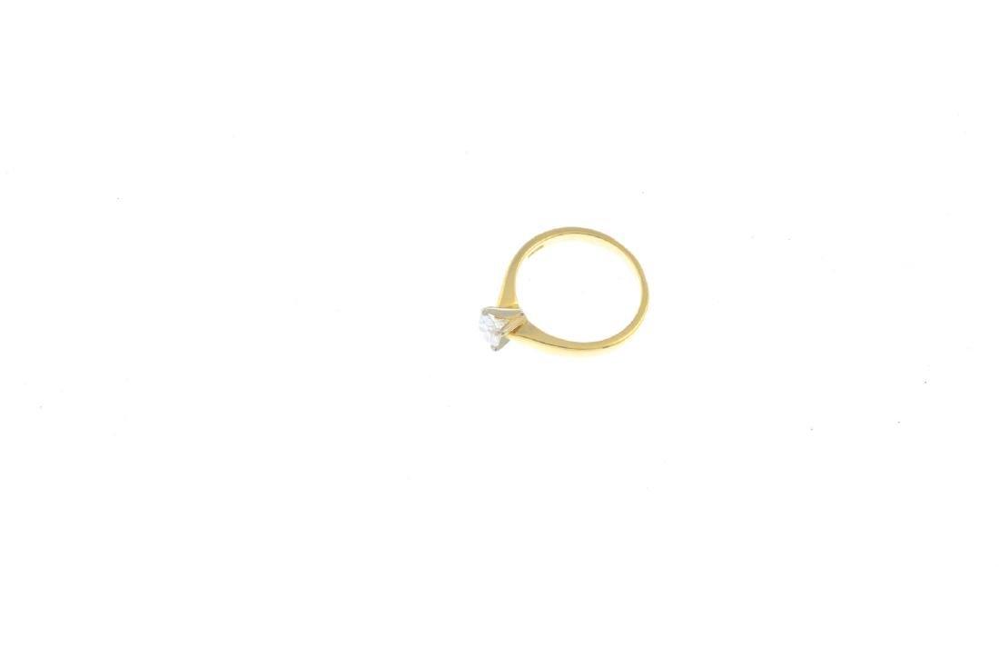 An 18ct gold diamond single-stone ring. The - 3