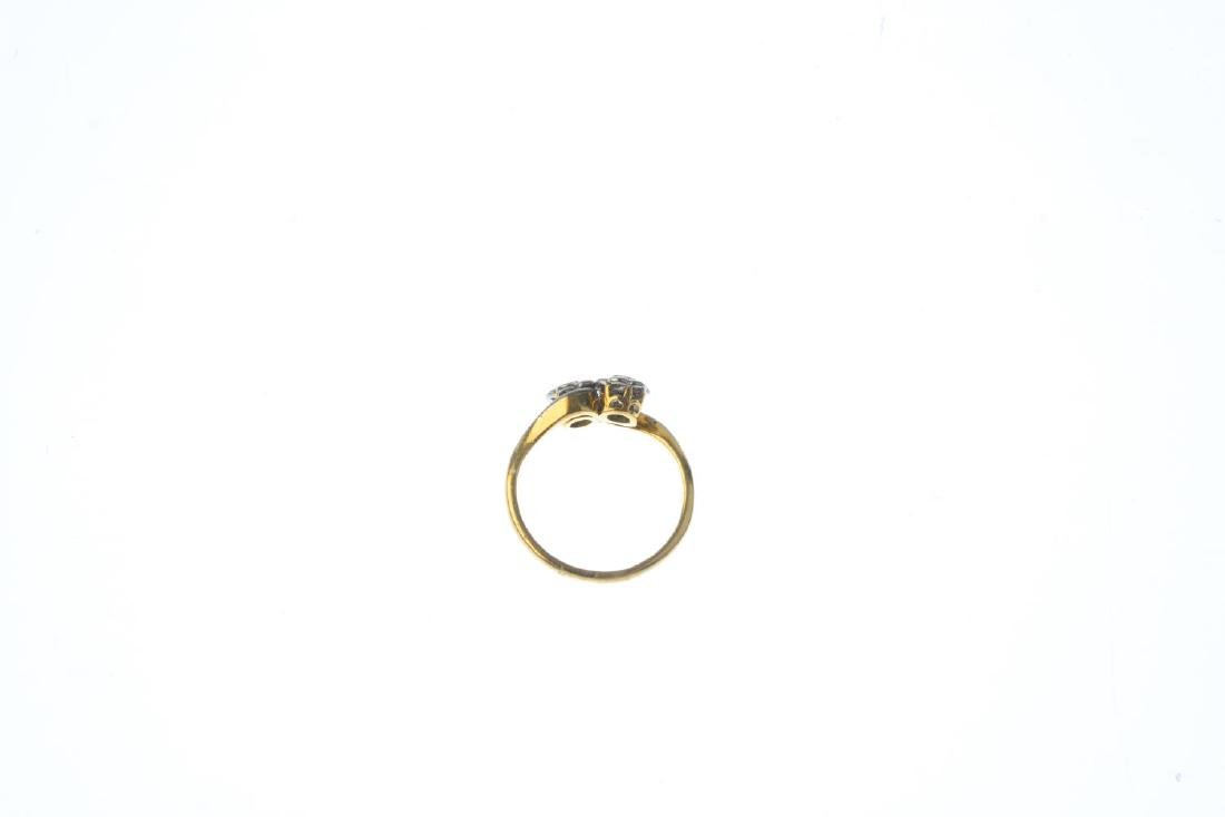 An 18ct gold diamond cluster ring. Designed as a floral - 2
