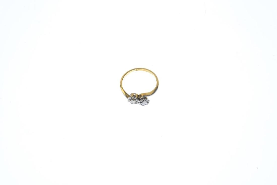 An 18ct gold diamond cluster ring. Designed as a floral - 3