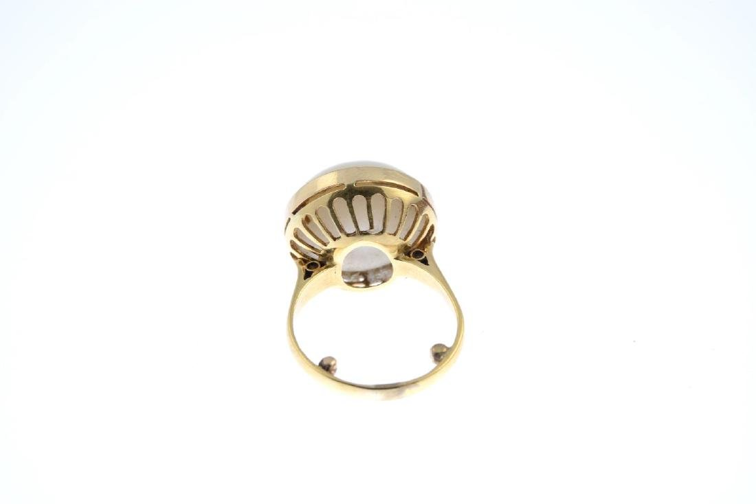 A mabe pearl ring. The mabe pearl, with openwork - 3