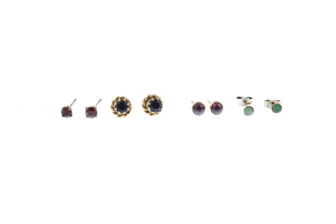 A selection of eleven pairs of gem-set earrings. To - 3