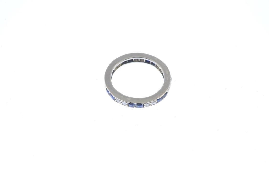 A mid 20th century sapphire and diamond full eternity - 2