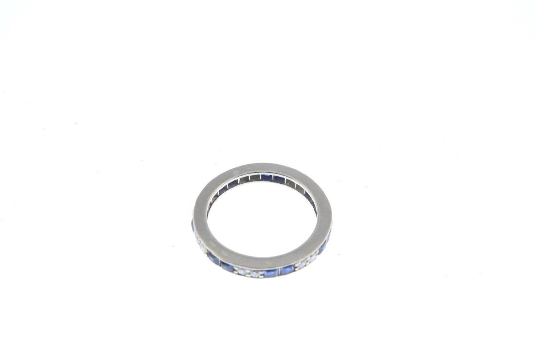A mid 20th century sapphire and diamond full eternity - 3