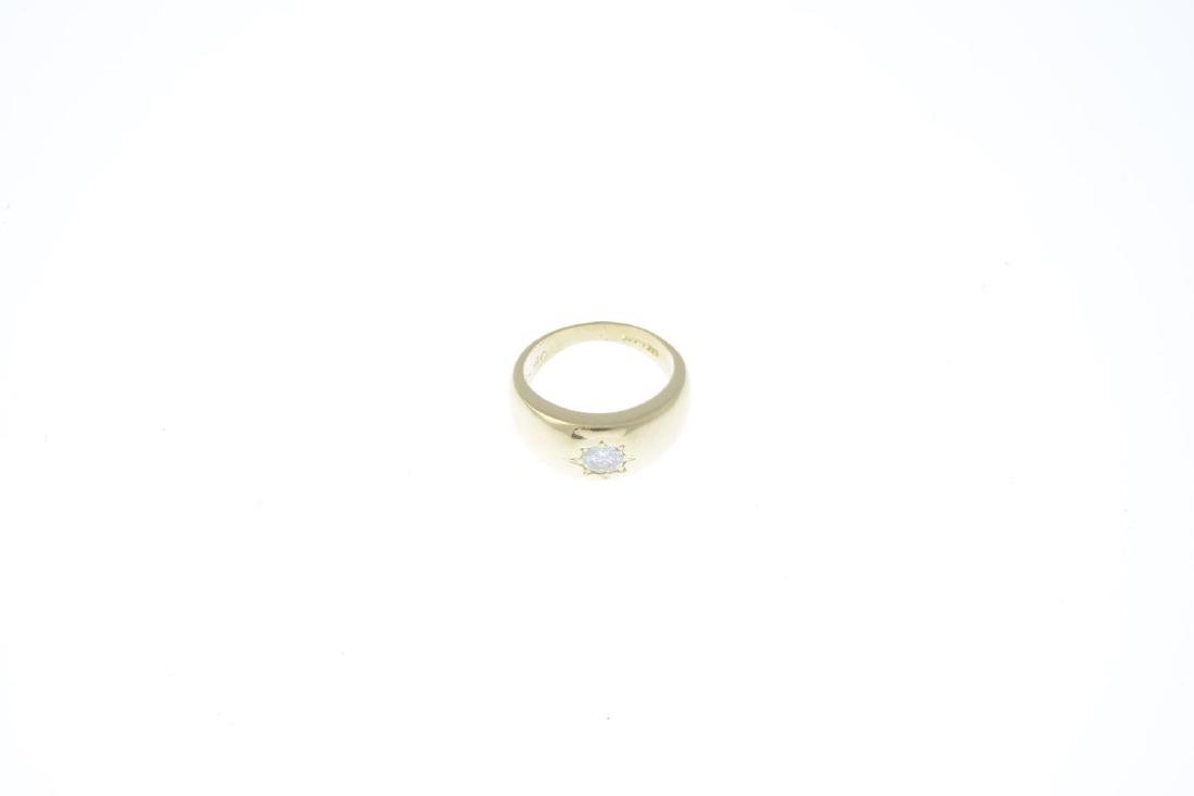 An 18ct gold diamond single-stone ring. The - 3