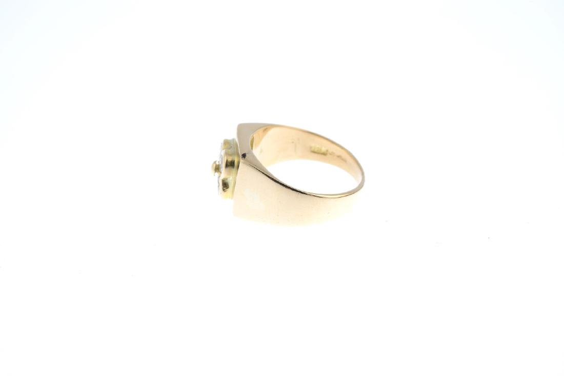 A 14ct gold diamond dress ring. The brilliant-cut - 2