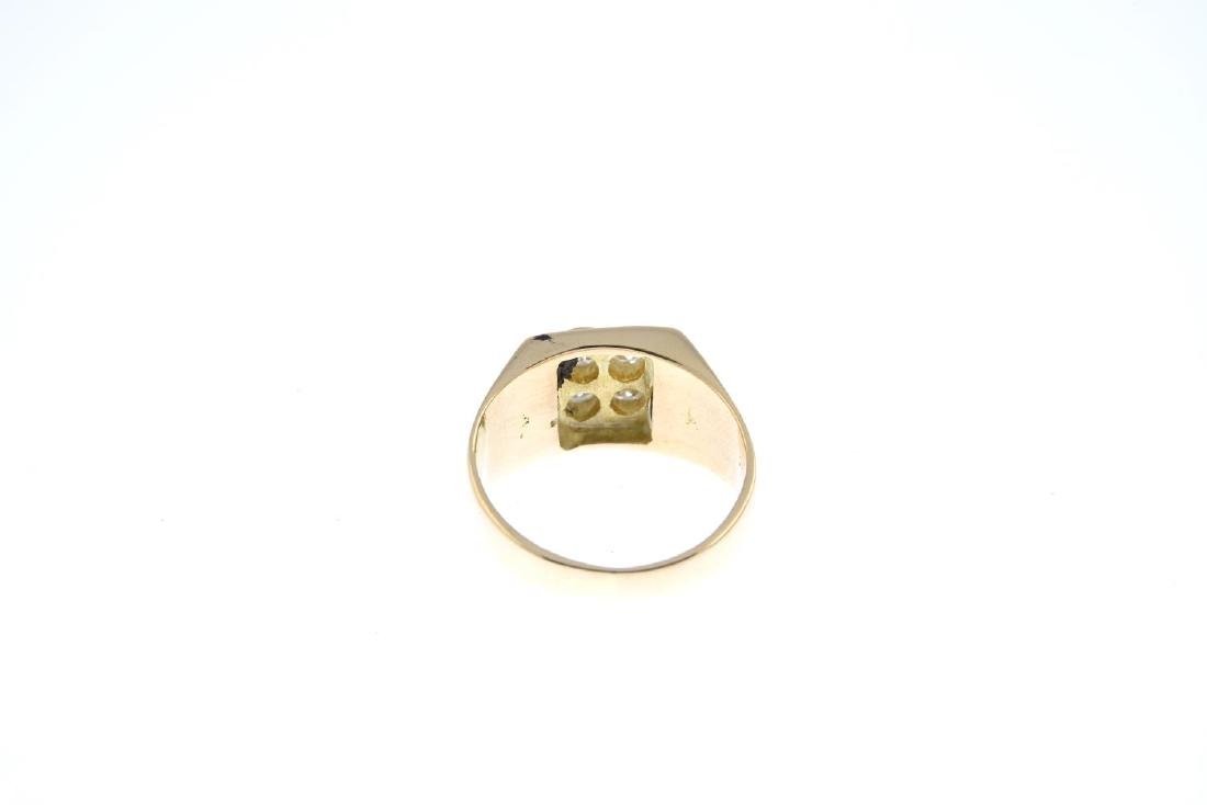 A 14ct gold diamond dress ring. The brilliant-cut - 3