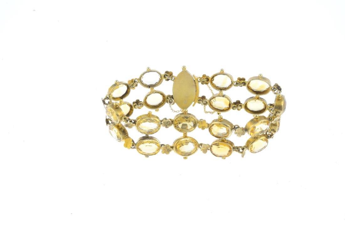 A citrine bracelet. Designed as a series of oval-shape - 2