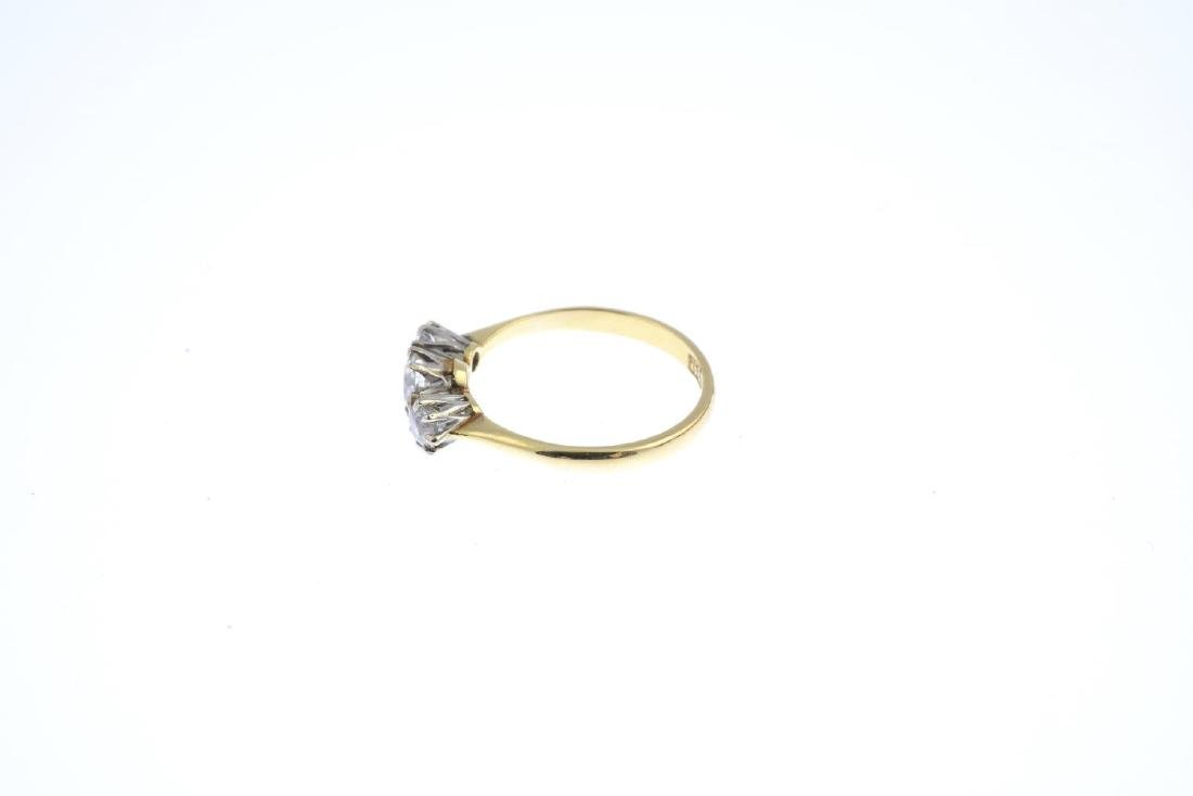 A diamond three-stone ring. The graduated circular-cut - 2