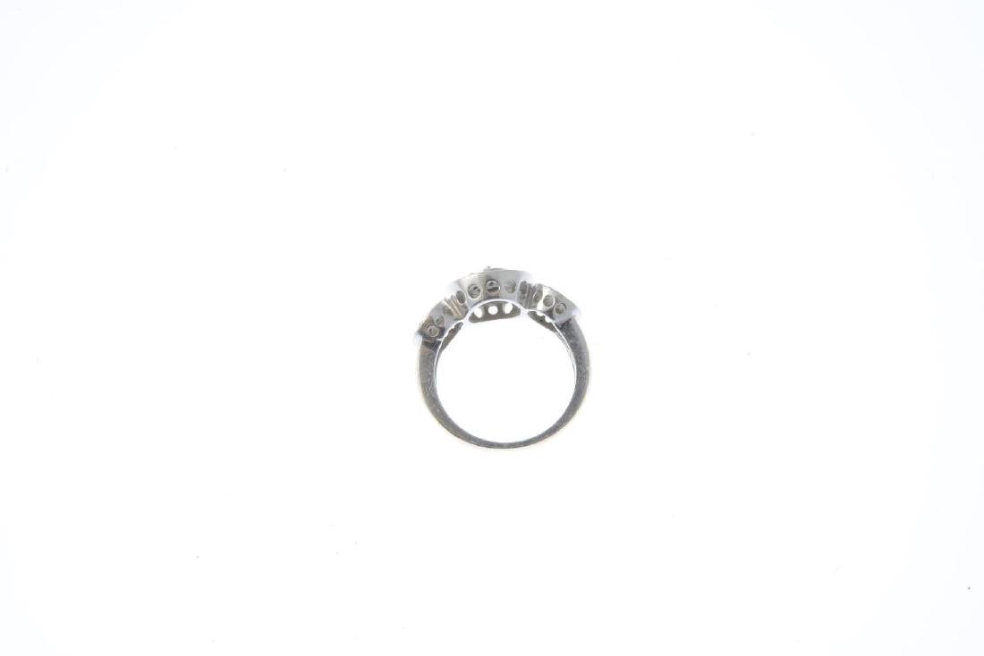 A diamond ring. Designed as a series of brilliant-cut - 3