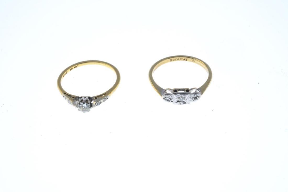 Two diamond rings. To include a vari-cut diamond - 2