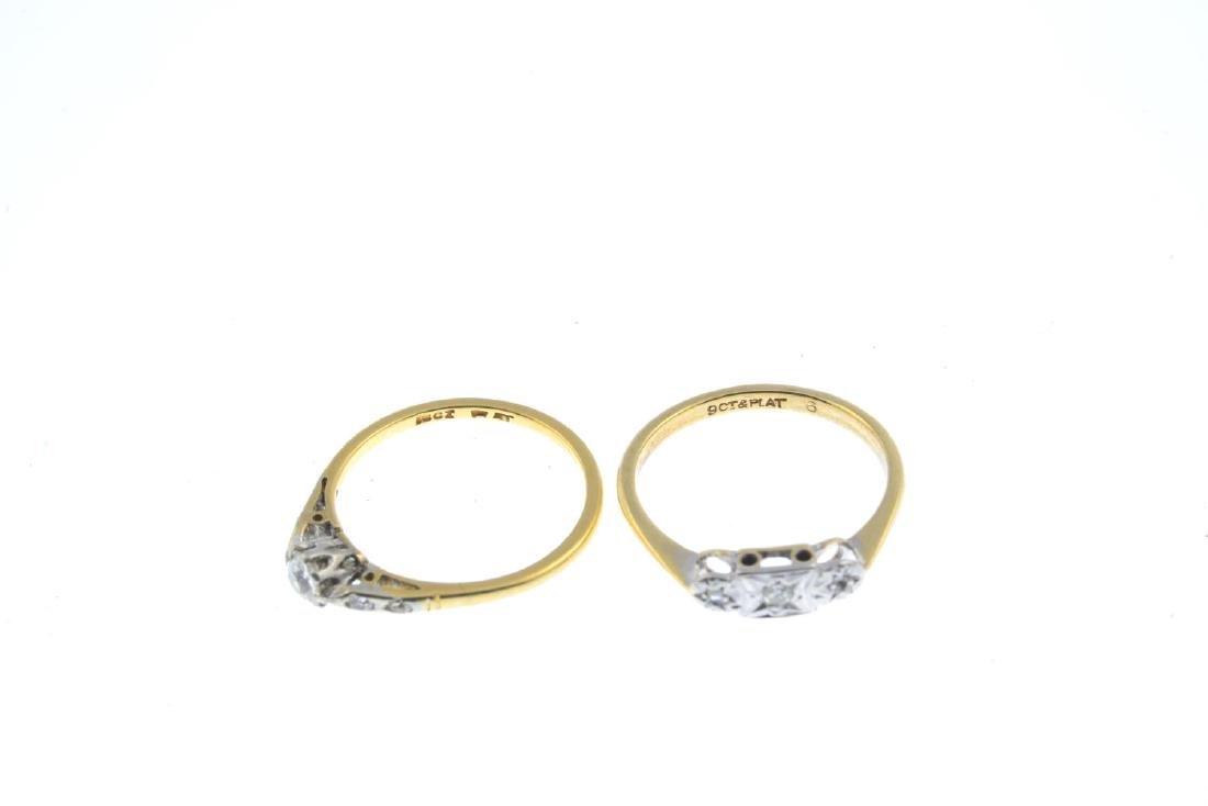 Two diamond rings. To include a vari-cut diamond - 3