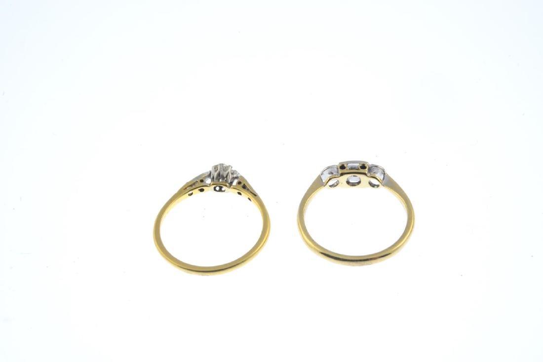 Two diamond rings. To include a vari-cut diamond - 4