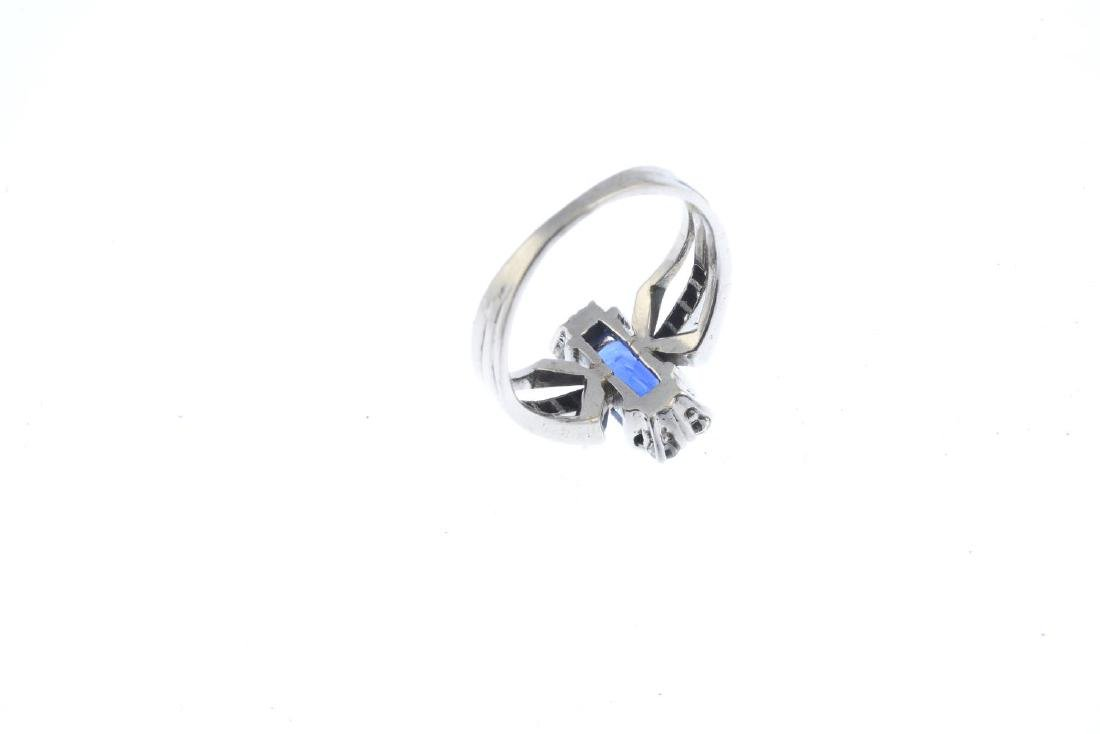 A sapphire and diamond dress ring. The - 3