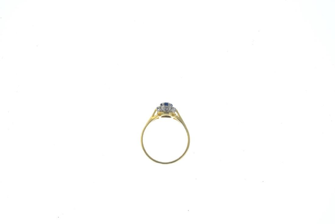 A 1960s 18ct gold sapphire and diamond ring. The - 2