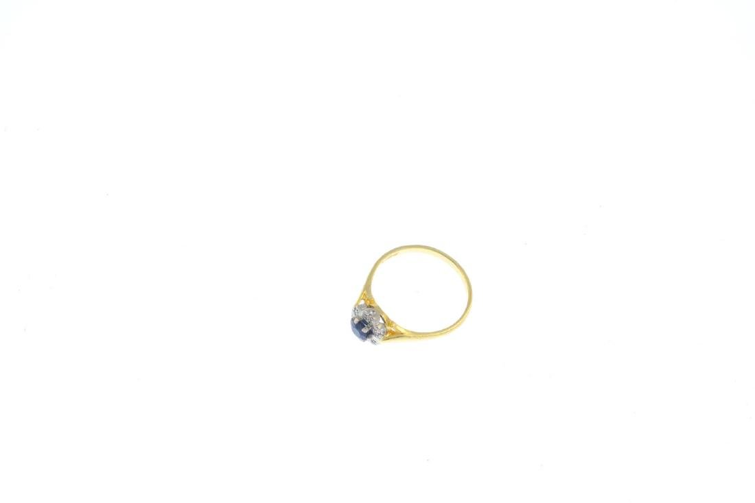 A 1960s 18ct gold sapphire and diamond ring. The - 3