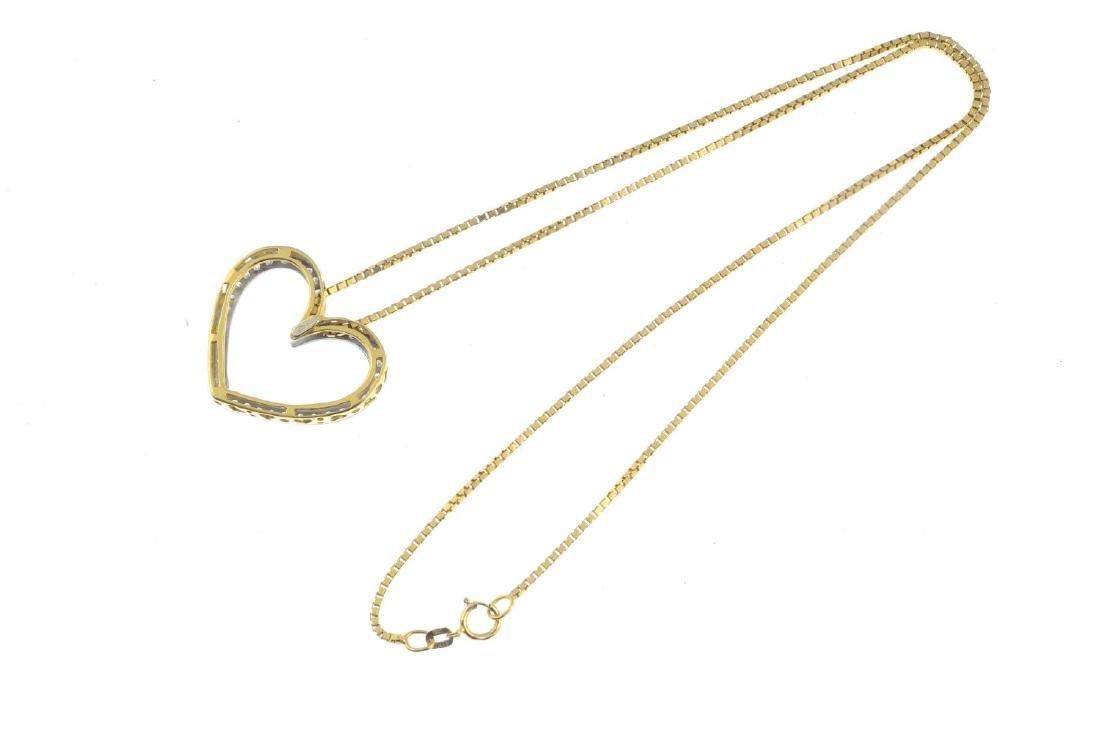 A diamond pendant. The brilliant-cut diamond openwork - 2