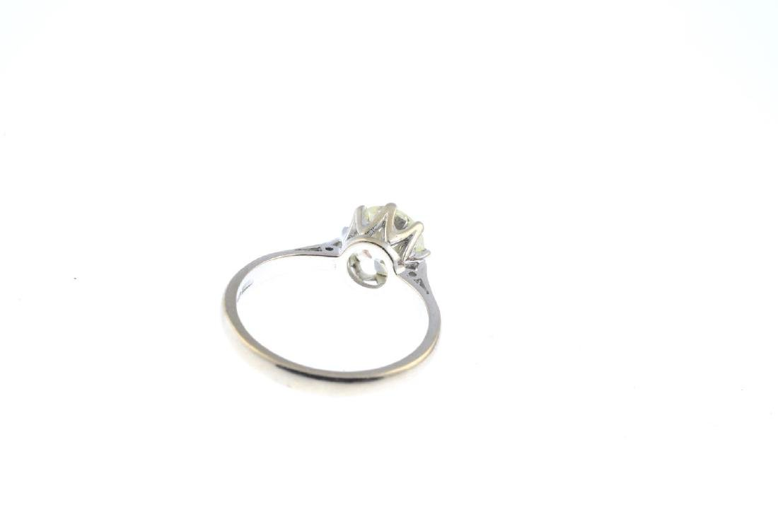 An 18ct gold diamond single-stone ring. The - 4