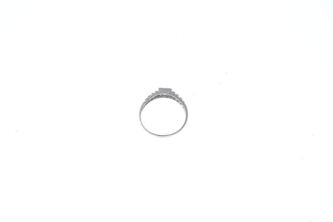 A cubic zirconia single-stone ring. The circular-shape - 2