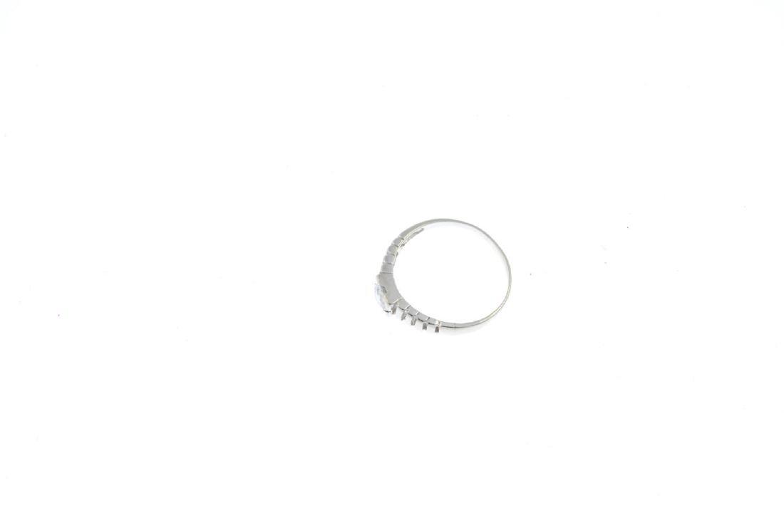 A cubic zirconia single-stone ring. The circular-shape - 3