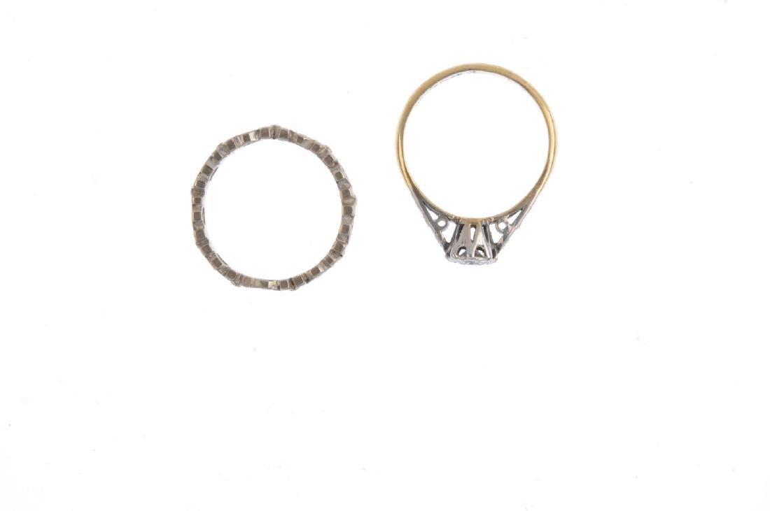Two diamond rings. To include a single-cut diamond - 2