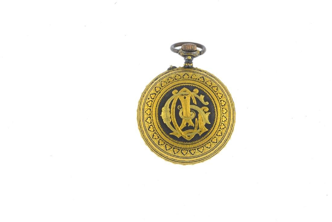 A damascene pocket watch. Of circular outline, the - 2