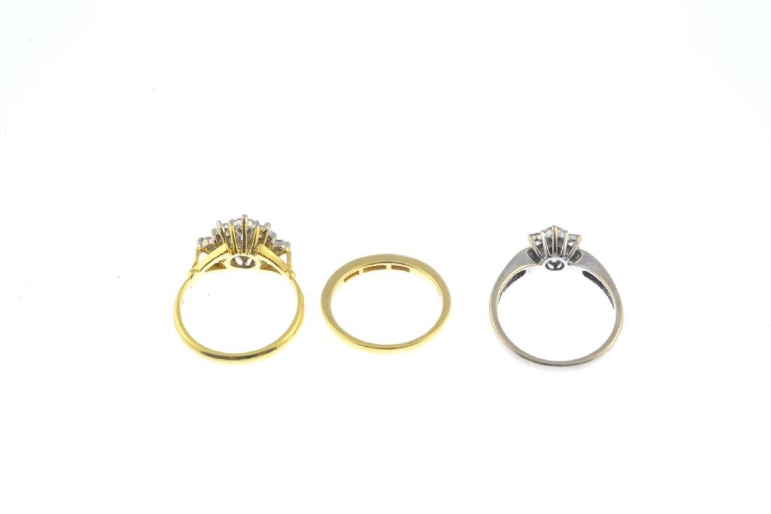 (52778) Three 18ct gold diamond rings. To include a - 3