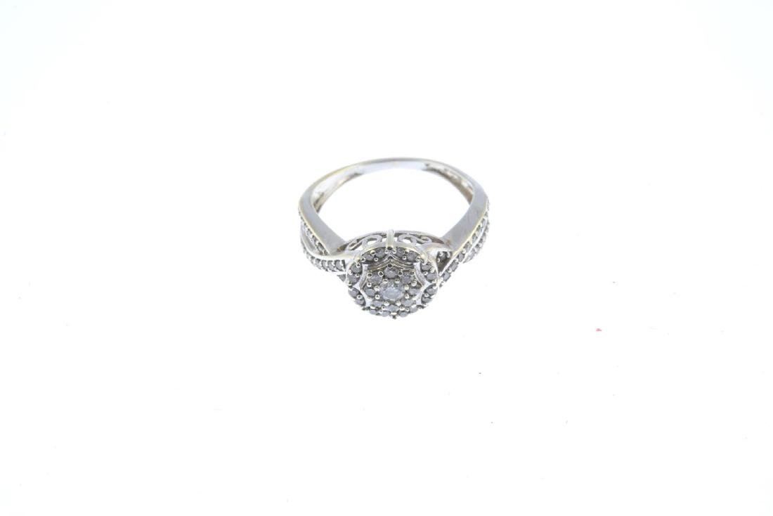(52781) A 9ct gold diamond cluster ring. The - 2