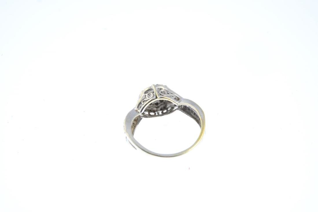 (52781) A 9ct gold diamond cluster ring. The - 3