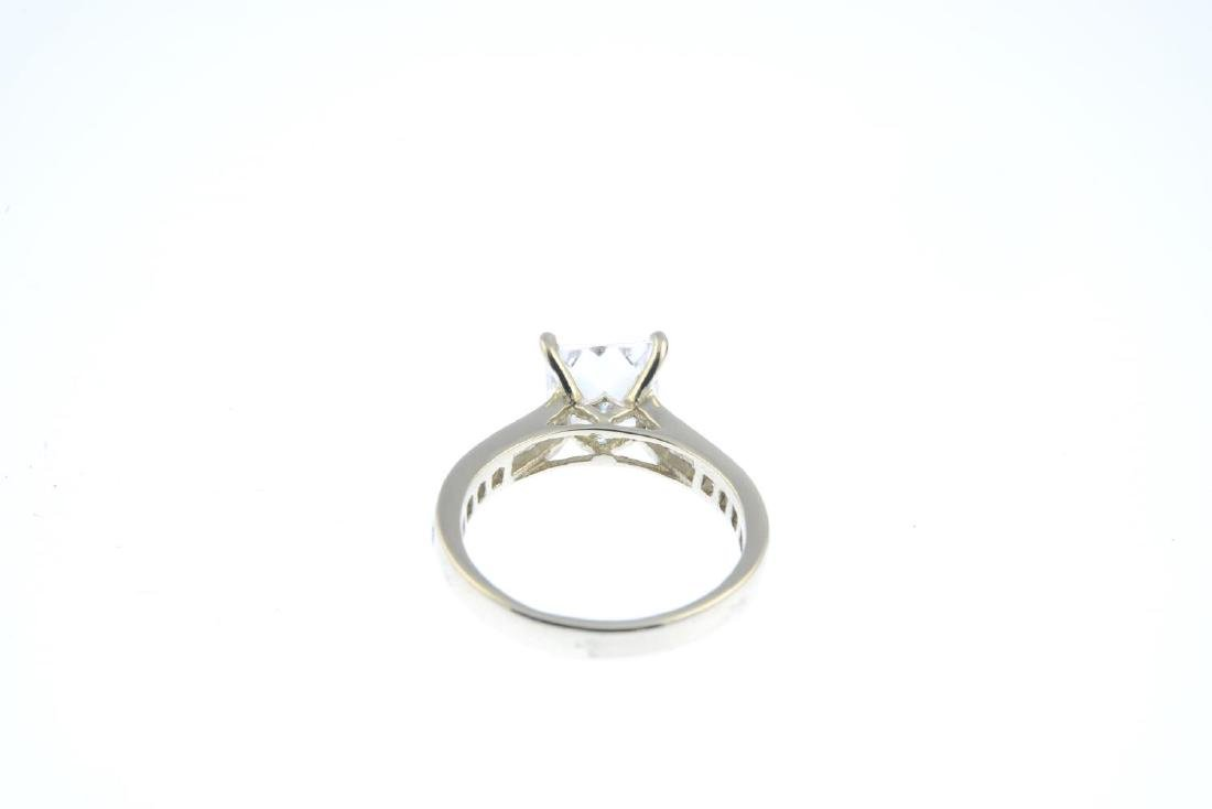 (52863) A cubic zirconia dress ring. The square-shape - 3