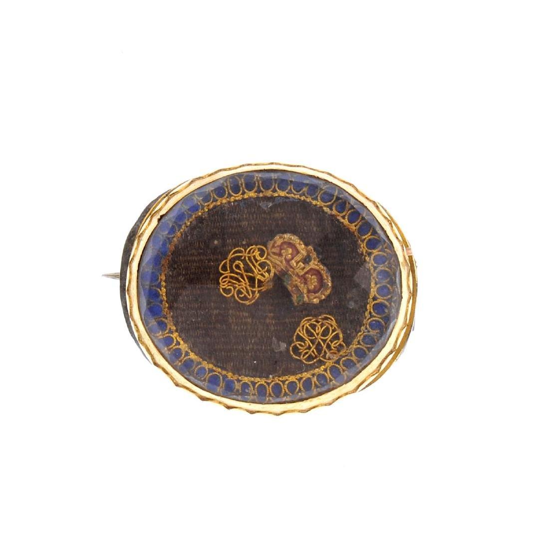 An early Georgian 'Stuart' rock crystal brooch. Of oval