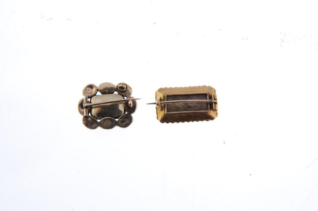 Two early 19th century memorial brooches. Both designed - 2