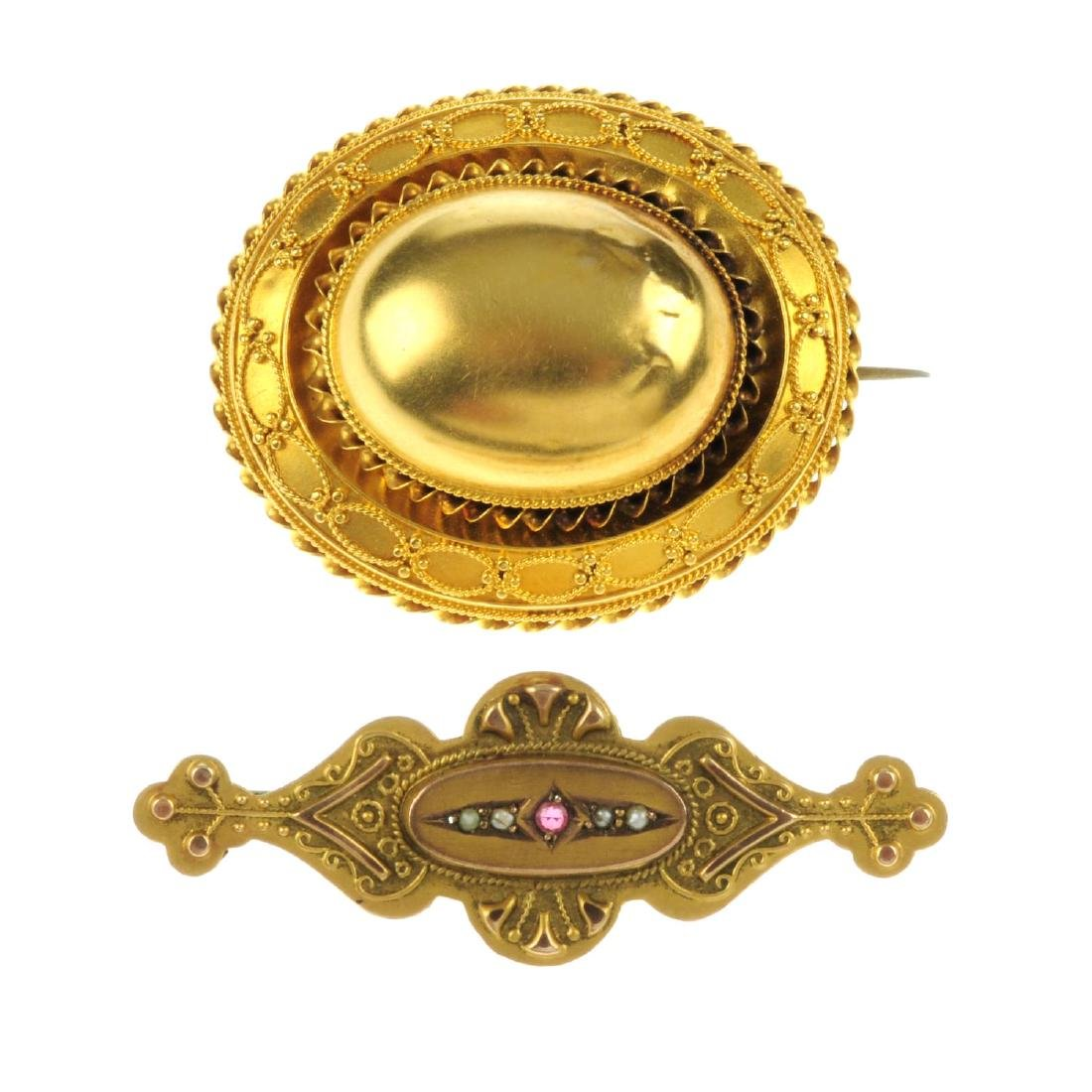 Two late 19th to early 20th century brooches. The first