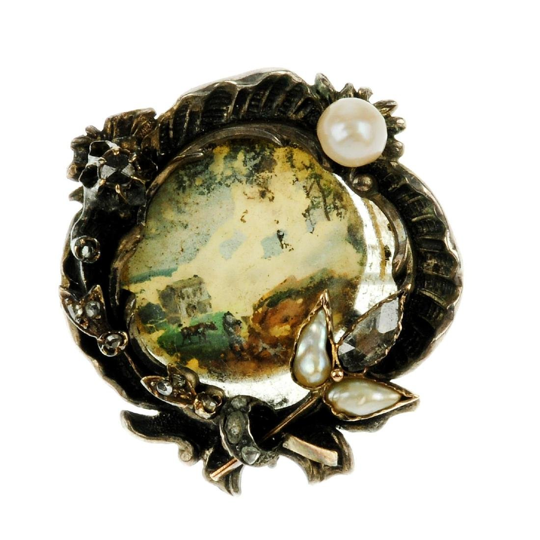 Two mid Victorian items of jewellery. The first a