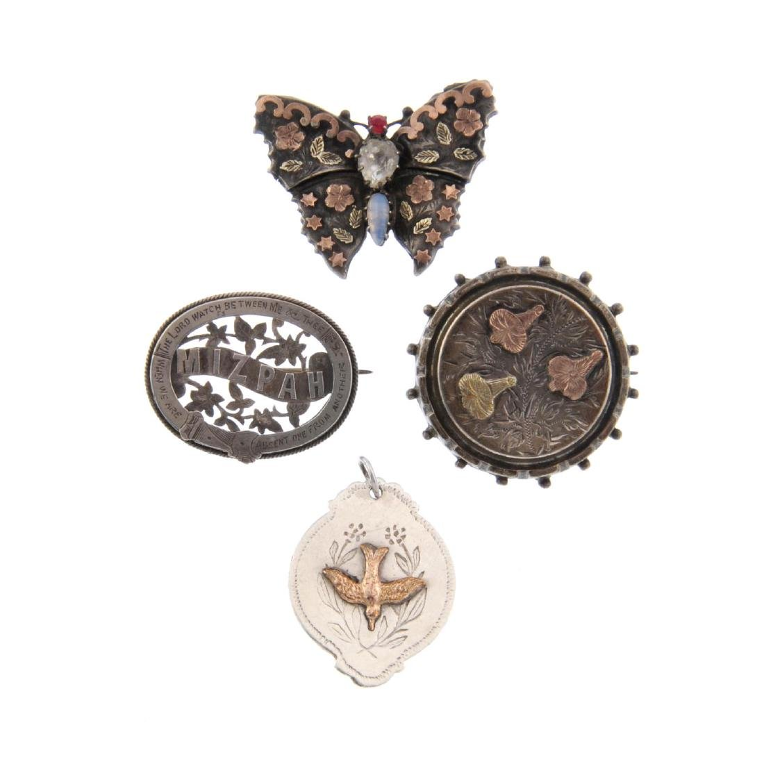 A selection of mainly late Victorian silver brooches