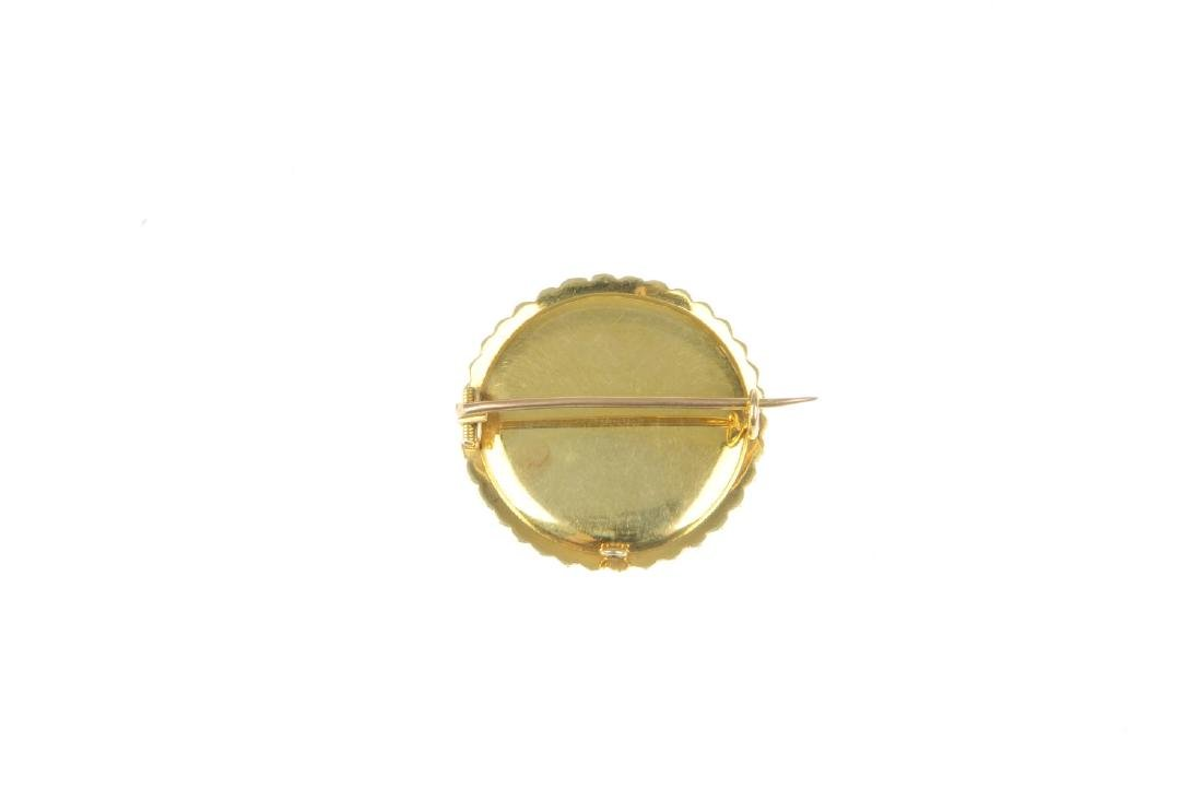 An early 20th century gold seed pearl brooch. Of - 2