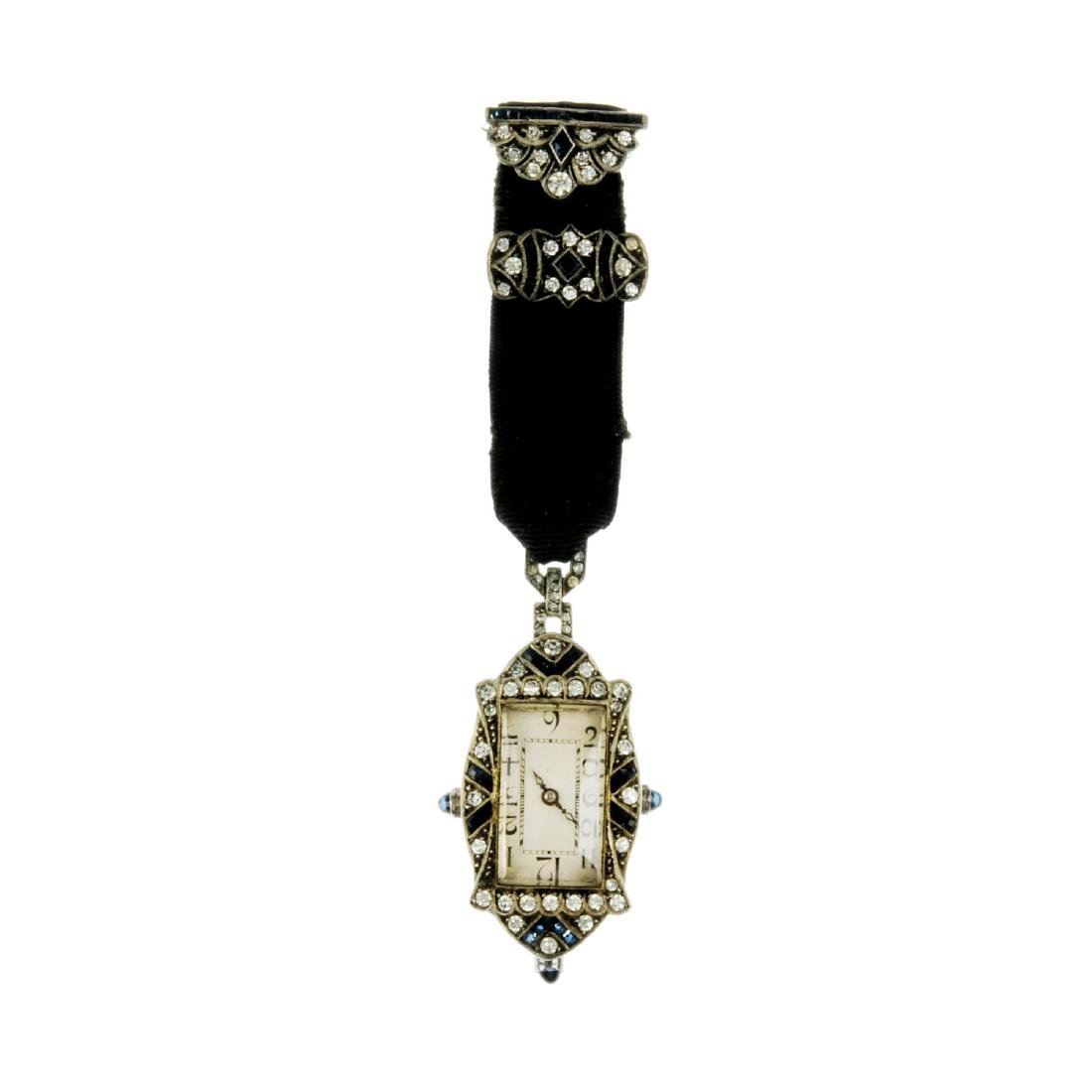 An early 20th century paste fob watch and a diamond and